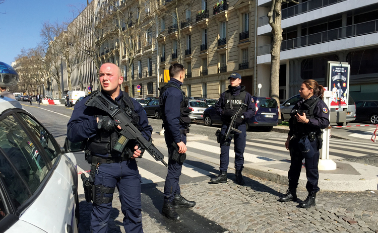 Explosion at the IMF office in Paris