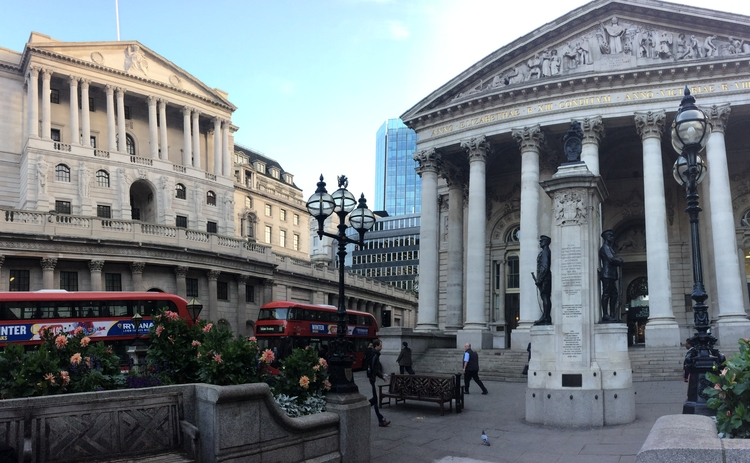 Bank of England and Stock Exchange