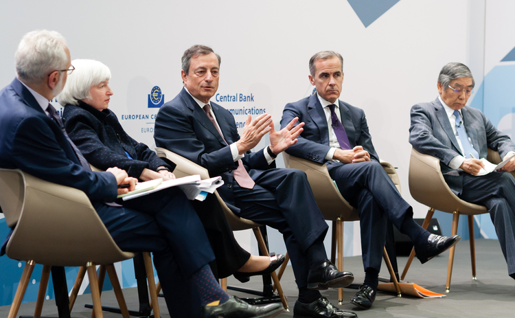 ECB panel Yellen Draghi Carney and Kuroda