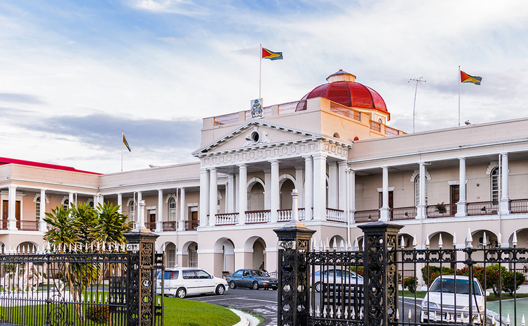 Guayana parliament building in Georgetown