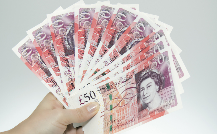 Fifty pound banknotes