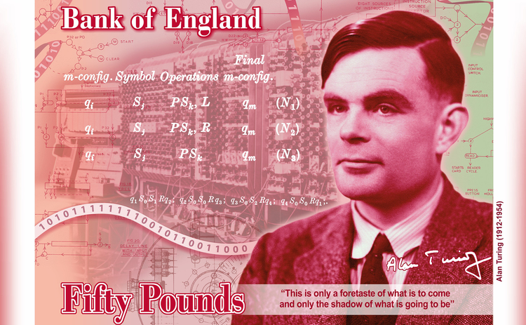 Alan Turing banknote concept
