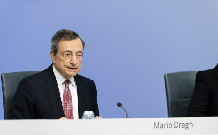 ECB president Mario Draghi announces new stimulus