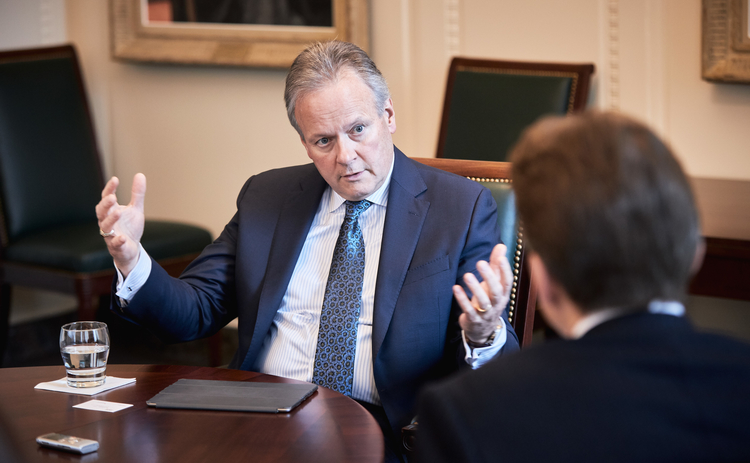 L to R: Stephen Poloz with Central Banking's Christopher Jeffery