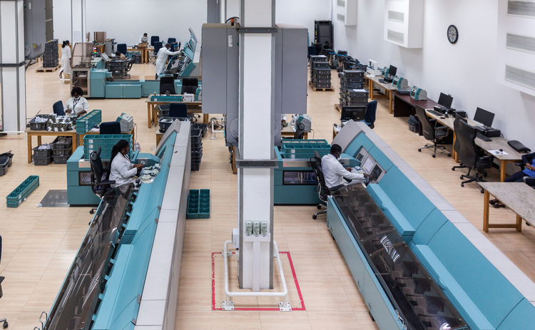 Bank of Ghana's cash processing centre