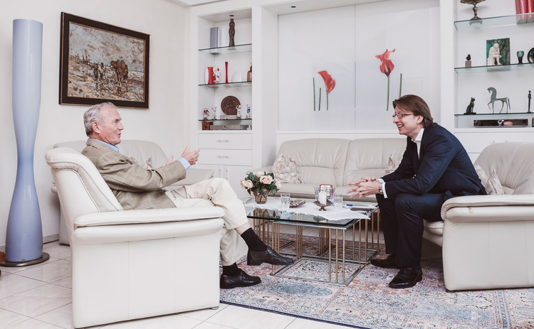 L to R: Otmar Issing with Central Banking's Christopher Jeffery