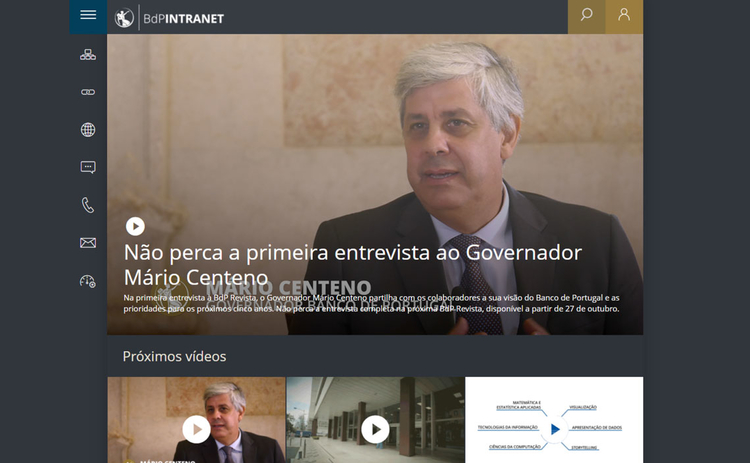 The Bank of Portugal's intranet