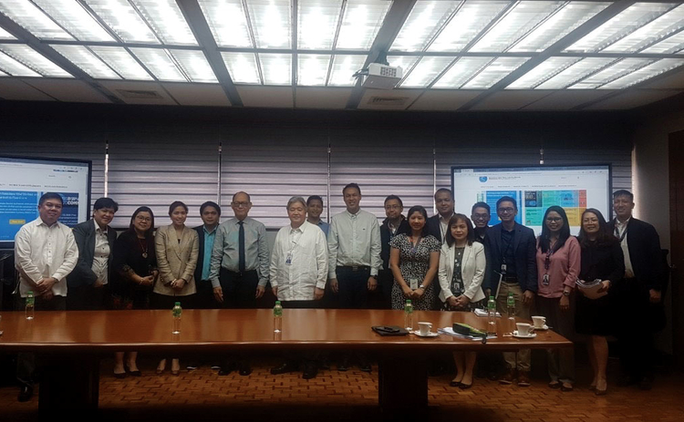 The BSP website team with governor Benjamin Diokno (centre, with black tie), January 2020