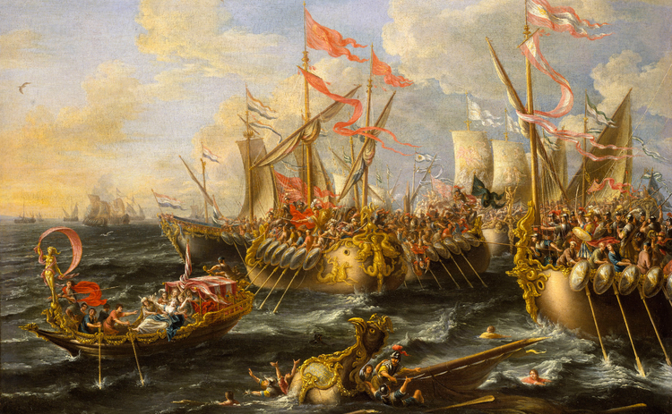 battle-of-actium-lorenzo-castro-painting