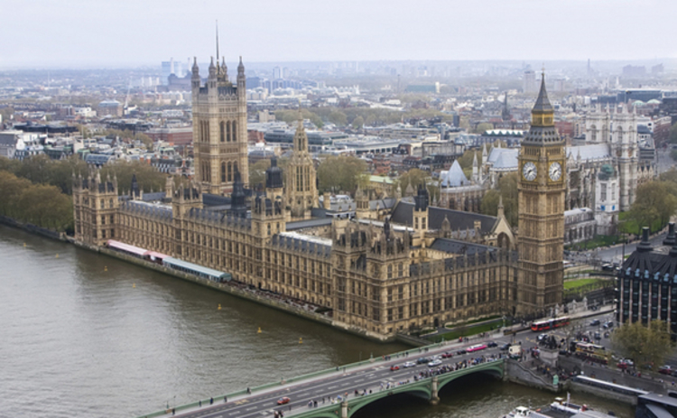 Houses of Parliament from above