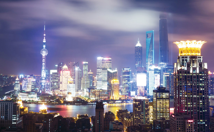 The much-transformed skyline of Shanghai