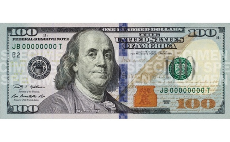 New 100 dollar note