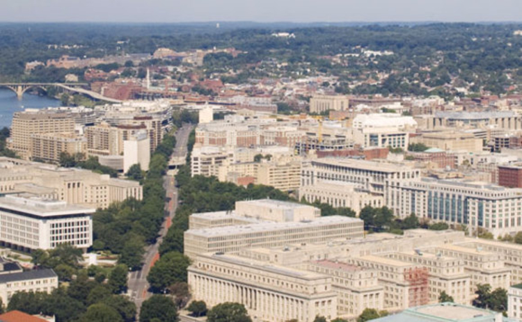 A view of Washington DC