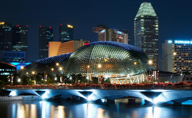 A view of Singapore at night