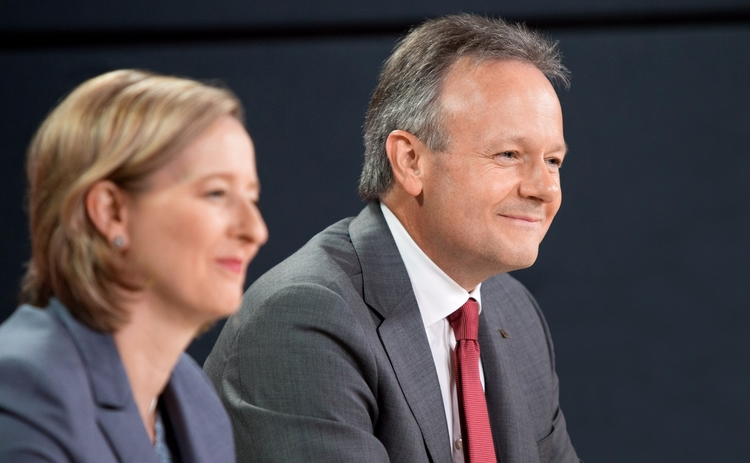 L to R: Carolyn Wilkins and Stephen Poloz