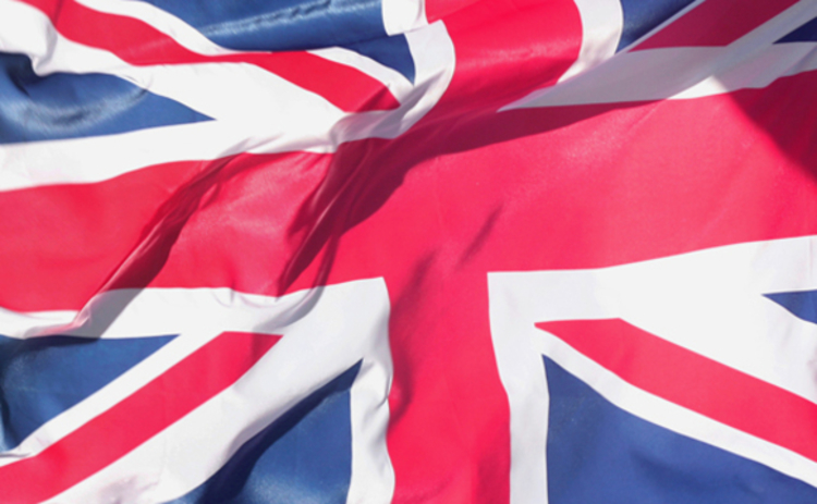 Close up of the Union flag