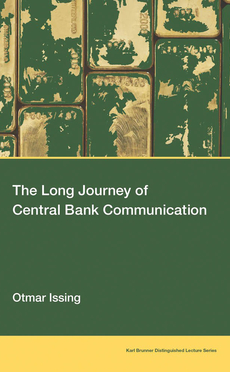 The long journey of central bank communication, by Otmar Issing
